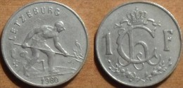 1960 - Luxembourg - 1 FRANC, Charlotte, KM 46.2 - Luxembourg