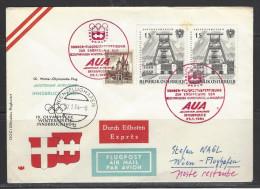 ÖSTERREICH - AUA - Innsbruck - Wien - 29.1.1964 Sonder-Flugpostabfertigung Eröffnung Olympische Spiele Innsbruck - Luftpost