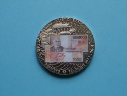Billet 1000 - CONSTANT PERMEKE Belgique 1977 - 2001 En Memoire D'Une Monnaie ( 26.5 Gr. - 40 Mm. / Details, Zie Foto ) ! - België