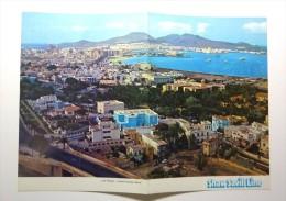 SHAW SAVILL Line. - S.S. OCEAN MONARCH Paquebot. Menu 17 September 1972. Cover With A View Of Las Palmas - Menú