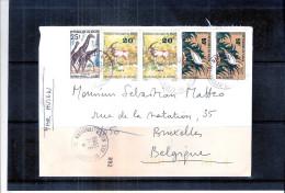 Lettre Du Niger Vers Belgique - Animaux Sauvages (à Voir) - Niger (1960-...)