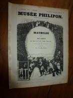 1840   MATHILDE Mise EN PIECE Et Divisée En 5 Parties ,  Musée PHILIPON Et  Magasin Comiques  ,dessins Et Croquis - 1800 - 1849