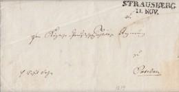 Brief Gelaufen Von L2 Strausberg 11.11.1819 Nach Potsdam Mit Inhalt - Deutschland