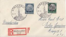 Elsass R-Brief Mif Minr.2,13 SST Strassburg 8.1.41 - Besetzungen 1938-45