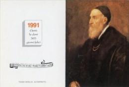 Calendarietto DEL CON AUTORITRATTO DI TIZIANO VERCELLIO (Casa Di Redenzione Sociale Milano-Niguarda) - OTTIMA M29 - Calendari