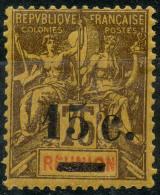 Reunion (1901) N 54 *  (charniere) Surcharge Sur L'ancienne Valeur - Réunion (1852-1975)