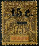Reunion (1901) N 54 (o) Sans Trait Sur L'ancienne Valeur - Réunion (1852-1975)