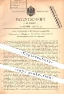 Original Patent - C. Weidmann , Würselen / Aachen 1905 , Regelung An Petroleum - Kraftmaschinen , Brennstoff Verbrennung - Documenti Storici