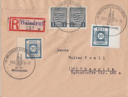 Ost-Sachsen R-Brief Mif Minr.48A,54 Pr. Sachsen Minr.2x 66 Wilsdruff 3.12.45 - Sowjetische Zone (SBZ)