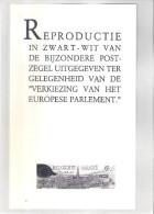 Feuillet N/B De L'Agenda De La Poste - ZNP22 - 1990 - Elections Européennes - Zwarte/witte Blaadjes