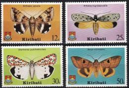 KIRIBATI PAPILLONS-BUTTERFLIES MARIPOSAS-FARFALLE-SCHMET TERLINGE (yvert 33/36) **, MNH - Papillons
