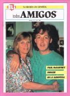 ELI. TU REVISTA EN ESPANOL. TODOS AMIGOS  PAUL Mc CARTNEY(BEATLES) 1989 - Livres, BD, Revues
