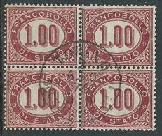 1875 REGNO USATO SERVIZIO DI STATO 1 LIRA QUARTINA - U24 - Servizi