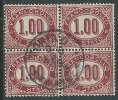 1875 REGNO USATO SERVIZIO DI STATO 1 LIRA QUARTINA - U24-3 - 1861-78 Vittorio Emanuele II