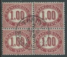 1875 REGNO USATO SERVIZIO DI STATO 1 LIRA QUARTINA - U24-4 - Servizi