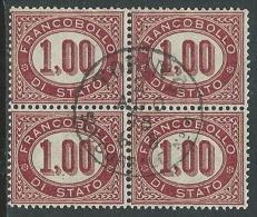 1875 REGNO USATO SERVIZIO DI STATO 1 LIRA QUARTINA - U24-5 - 1861-78 Vittorio Emanuele II
