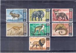 Kenya - Yv.28/33 - Animals - 7 Last Values - Obl/gest/used (to See) - Kenya (1963-...)