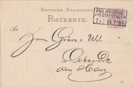 DR Ganzsache Mit Zudruck R3 Phillipsruhe-Kesselstadt 7.7.85 - Deutschland