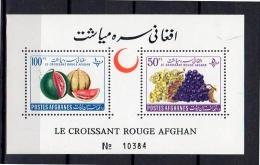 1961 Red Cross MNH Sheet Michel Block # 16 MNH, Very Fine (af6) - Afghanistan