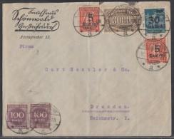 DR Brief Mif Minr,2x 268, 6x 270,11x 254,2x 277, 284 Grossröhrsdorf 11.9.23 - Deutschland