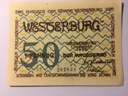 Allemagne Notgeld Westerburg 50 Pfennig 1921 NEUF - [ 3] 1918-1933 : République De Weimar