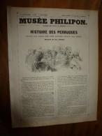 1840  HISTOIRE DES PERRUQUES Depuis Les Temps Les Plus Reculés Jusqu'à Nos Jours; Musée PHILIPON , Dessins  Ch. Jacque - 1800 - 1849