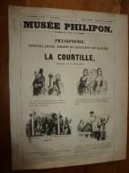 1840  PHYSIONOMIE,Tournure,Gestes,Toilette Et Amusements Des Habitués De LA COURTILLE  ; Musée PHILIPON Des. Eustache , - 1800 - 1849