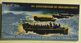 "France 2015 ""souvenir Du Plus Beau Timbre De L'année 2014 "" 6 Juin 1944 - Foglietti Commemorativi"