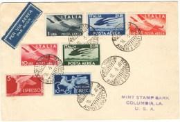 R867) UMBERTO II LETTERA Del 10.5.46 PER GLI U.S.A. CON 3.20 LIRE AEREA - 5. 1944-46 Luogotenenza & Umberto II