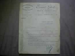 BOUCHAIN NORD EDOUARD GIBOT MACHINES-OUTILS 88 RUE LEON PIERARD COMMANDE DU 3 DECEMBRE 1926 - 1900 – 1949