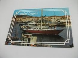 NAVE SHIP SAINT TROPEZ  YACHT TRAGHETTO GIRS ST. TROPEZ COTE D'AZUR - Chiatte, Barconi