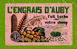 Buvard : L´Engrais D´AUBY Fait Tache Sur Votre Champ Signé AD - Agriculture