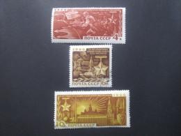 Russie. 1966. Yvert N° 3176 à 3178 Oblit. 25° Anniversaire De La Victoire De Moscou. - 1923-1991 UdSSR