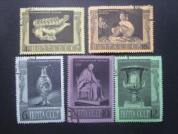 Russie. 1966. Yvert N° 3190 à 3194 Oblit. Tableaux Et Oeuvres D'art Du Musée De L'Ermitage à Leningrad.e - 1923-1991 UdSSR