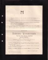 ANVERS IXELLES Isidore VERHEYDEN Peintre Veuf GEROME 1846-1905 Membre Académie Royale De Belgique - Avvisi Di Necrologio