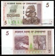ZIMBABWE :  5 Dollars - 2007  - UNC - Zimbabwe