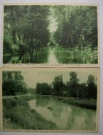 79 - Lot De 2  La Venise Verte  : La Sévre à Maître-Jean + La Conche Du Pont Des Epineaux - Autres Communes