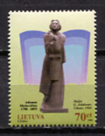 Lithuania 1998 Lituania / Writer Adam Mickiewicz Poet MNH Poeta Escritor / Jg04  2 - Scrittori