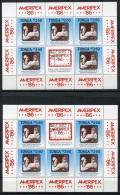 Tonga, 1986, Royal Links, Queen, MNH Sheets, Ameripex Overprint, Michel Not Listed - Tonga (1970-...)