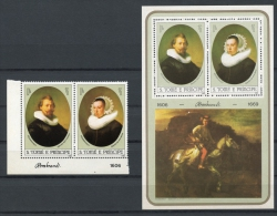 Sao Tome And Principe, 1983, Rembrandt, Paintings, MNH, Michel 817-818, Block 118 - Sao Tome Et Principe
