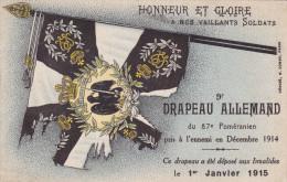 WWI 1914 1915 WW1 DRAPEAU ALLEMAND German Flag Duitse Vlag Leger Army Armee Regiment Pomeranien - Guerra 1914-18
