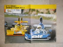 ANCIEN POSTER/ ENCART REVUE  AUTO/ V6 RENAULT / CHAMPION EUROPE F2  1976 - Voitures (Courses)