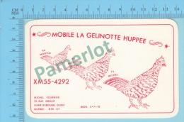QSL  - Charlebourg Quebec Canada - Mobile De La Gelinotte Huppée -  2 Scans - CB