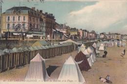 Thématiques 85 Vendée Les Sables D'Olonne L'Hôtel Du Remblai Et La Plage Ecrite Cachet 1907 - Sables D'Olonne