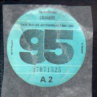 Timbre Fiscal - Vignette Automobile 95  - A2  - 1995 Calvados 14 - Fiscaux