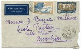 NOUMEA Env. Du 19/01/1938 Avec N°139 Et 155 - Briefe U. Dokumente