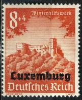 LUXEMBOURG 37*  8p + 4p Rouge-orange - Besetzungen