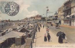 Thématiques 85 Vendée Les Sables D'Olonne Le Remblai Et La Plage Ecrite Timbrée Cachet 22 07 1907 - Sables D'Olonne