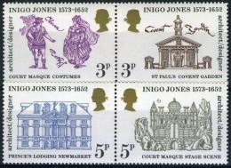 GRANDE BRETAGNE 691/694**  400ème Anniversaire De La Naissance D´Inigo Jones - 1952-.... (Elizabeth II)