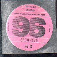 Timbre Fiscal - Vignette Automobile 96  - A2 - 1996 Calvados 14 - Fiscaux